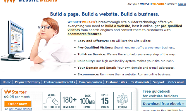 websitewizard site builder and shopping cart builder review